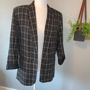 VINTAGE Ship 'n Shore Petite Blazer Plaid 6P